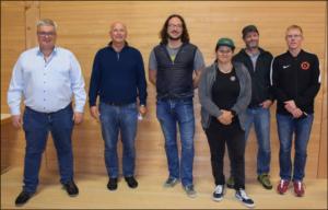 Der Vorstand, v.l.n.r.: Thorsten Fink, Hermann Schiele, Markus Rossa, Katharina Förster, Markus Mühler, Christian Schinzel